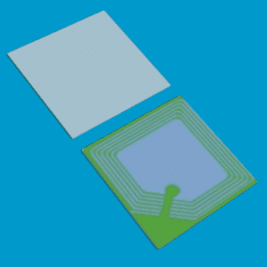 artikelbeveiliging - winkelbeveiliging - productbeveiliging - beveiligingslabel - RF - beveiligingsetiket - beveiligingssticker - deactiveerbaar 5050-W