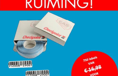 opruiming - beveiligingslabels - beveiligingsetiketten - RF - Radio Frequent - Checkpoint - 2410 - 23 x 25 mm - barcode - artikelbeveiliging - productbeveiliging - winkelbeveiliging - METO - Checkpoint - TAGIT - EM