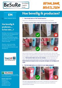 Artikelbeveiliging - instructie beveiligen met EM-labels