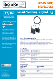 Artikelbeveiliging - Winkelbeveiliging - Productbeveiliging - Beveiligingslabels - SALT - Smart Alarming Lanyard Tag