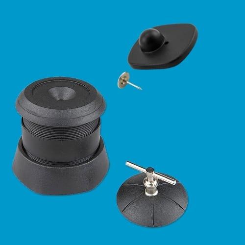 Artikelbeveiliging - Winkelbeveiliging - Productbeveiliging - hard tag - ontkoppelaar - detacher