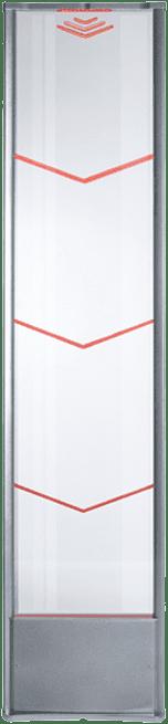 Iridium - Delta - Plexi - plexiglas - plexiglass - LED - RF - Radio Frequent - artikelbeveiliging - productbeveiliging - winkelbeveiliging - detectiepoortjes - beveiligingspoortjes