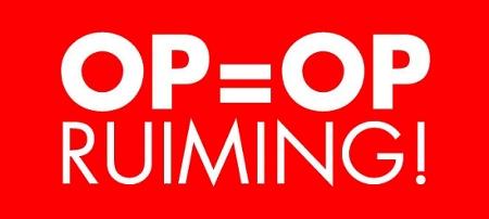 OP=OPRUIMING