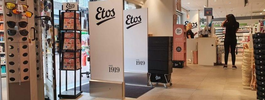 ETOS - drogisterij - EM - Elektromagnetisch - strips - beveiligingslabels - detectiepoortjes - artikelbeveiliging