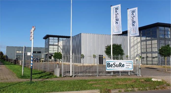 BeSuRe Nederland - Hoofdkantoor - magazijn - showroom - Koningsbeltweg 74-a Almere 1329 AK